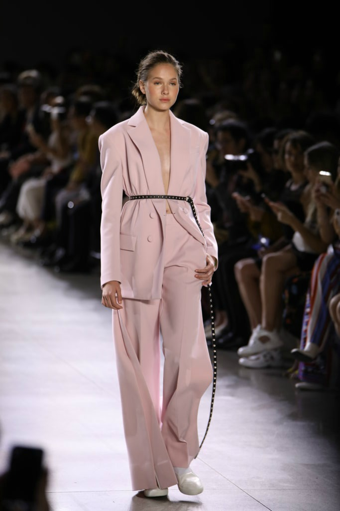 Taoray Wang SS 2019 light pink suit