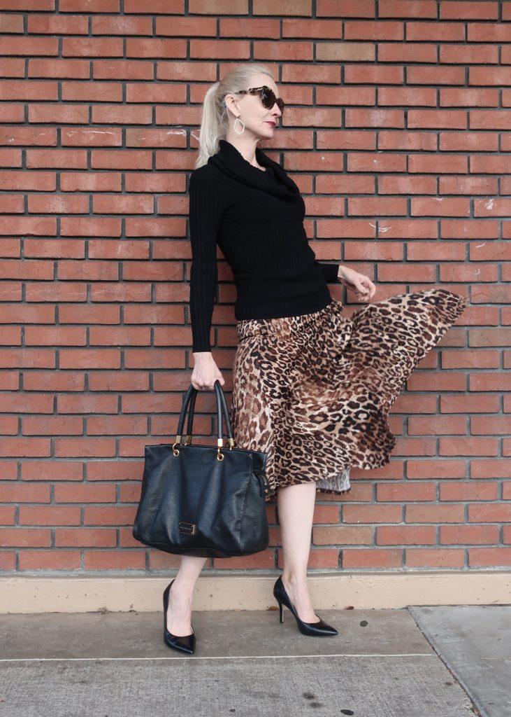 leopard trend, leopard midi skirt