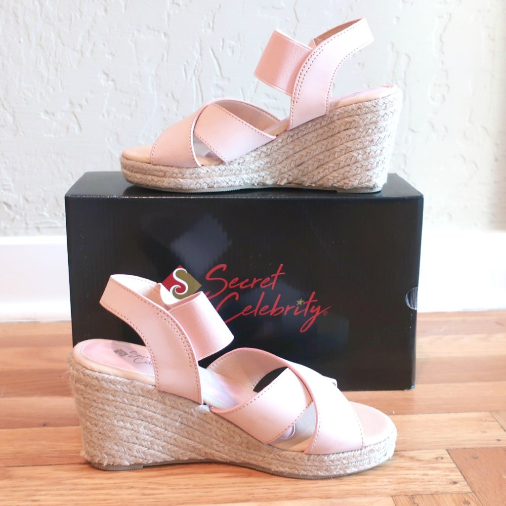 review of Emily sandals from Secret Celebrity
