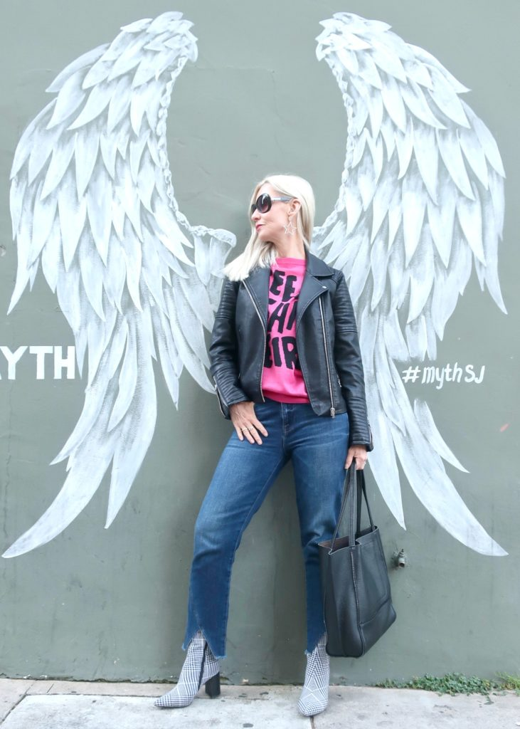 edgy outfit for women over 40
