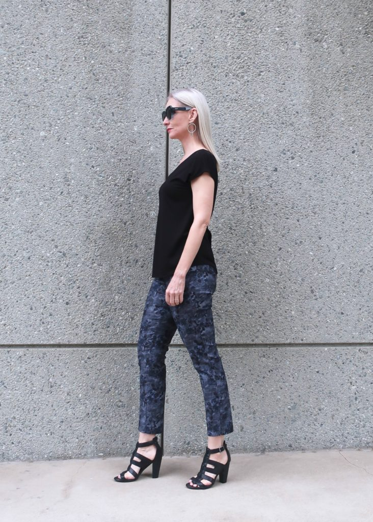 review of Vermeer print ankle pants by Lisette L Montreaal