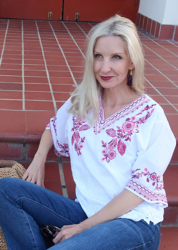 boho top for women over 40