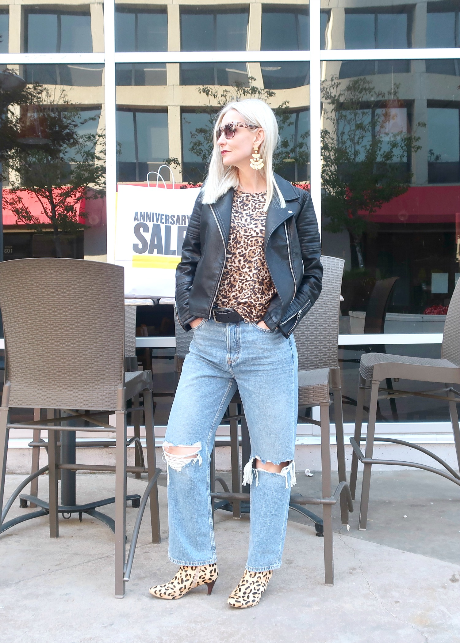 casual edgy style for women over 50