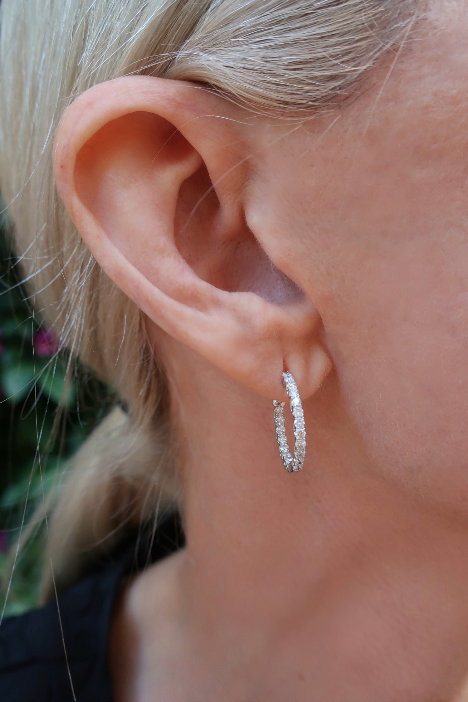 lab grown diamond hoops earrings