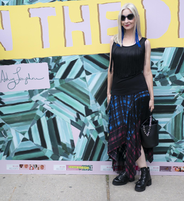 NYFW street style, fringe at New York Fashion Week
