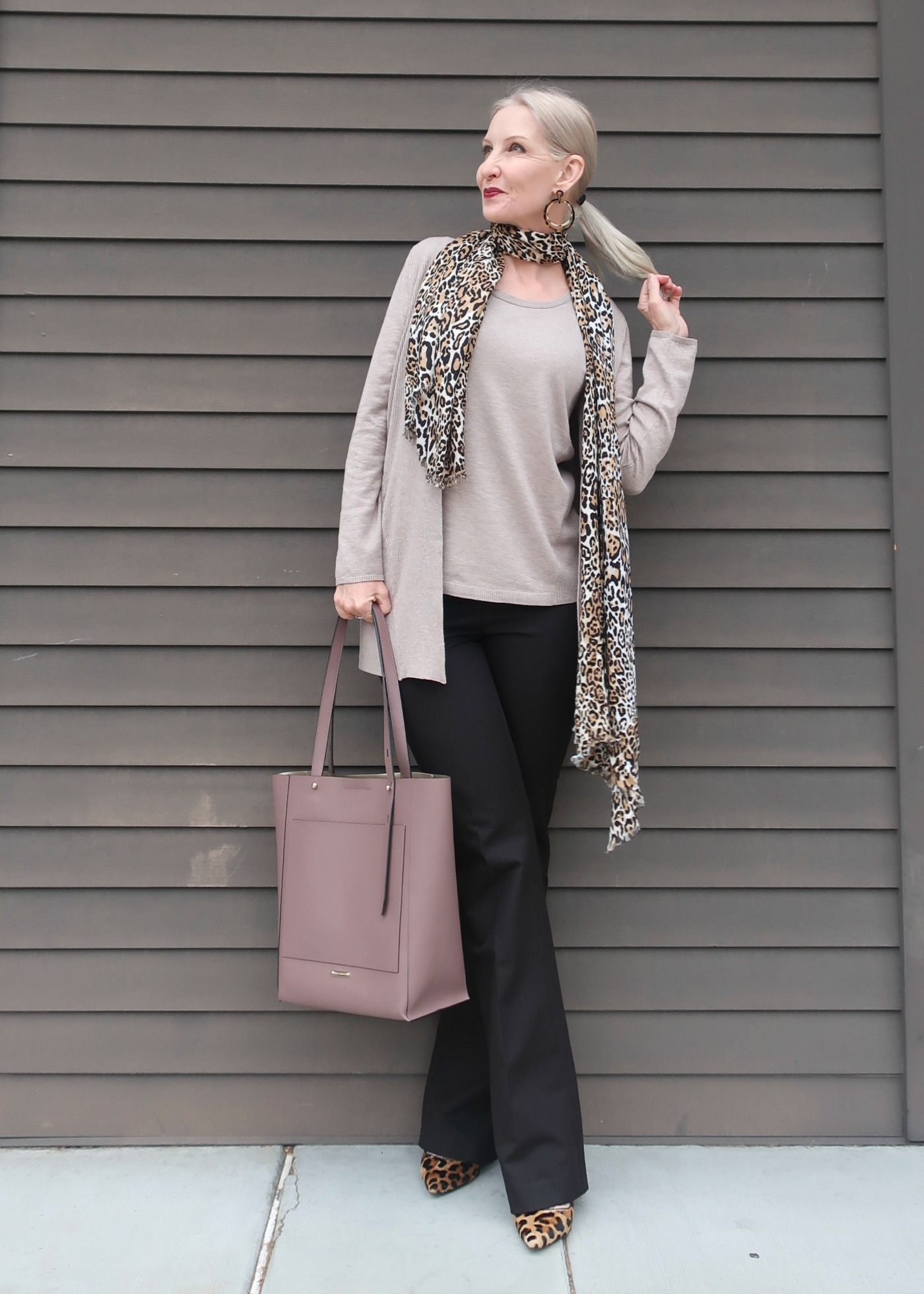 taupe sweater set from Chico's