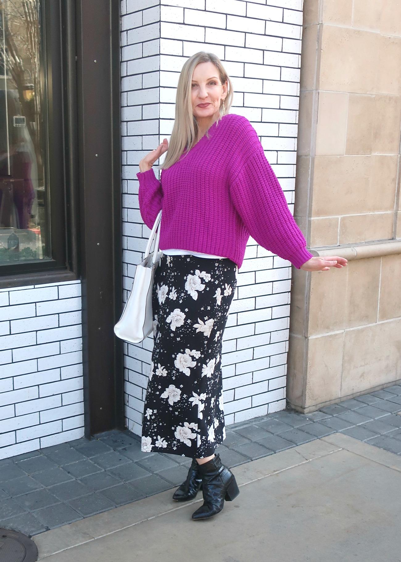 Topshop spring midi skirt