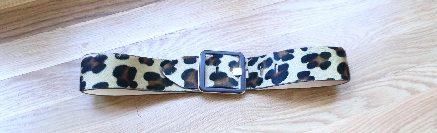 wide animal print belt