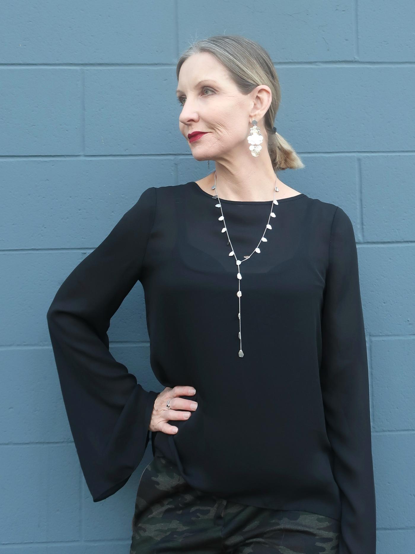 Iwona necklace and Divya earrings