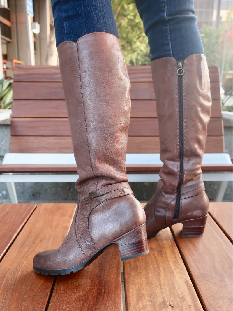 water-resistant knee-high boots