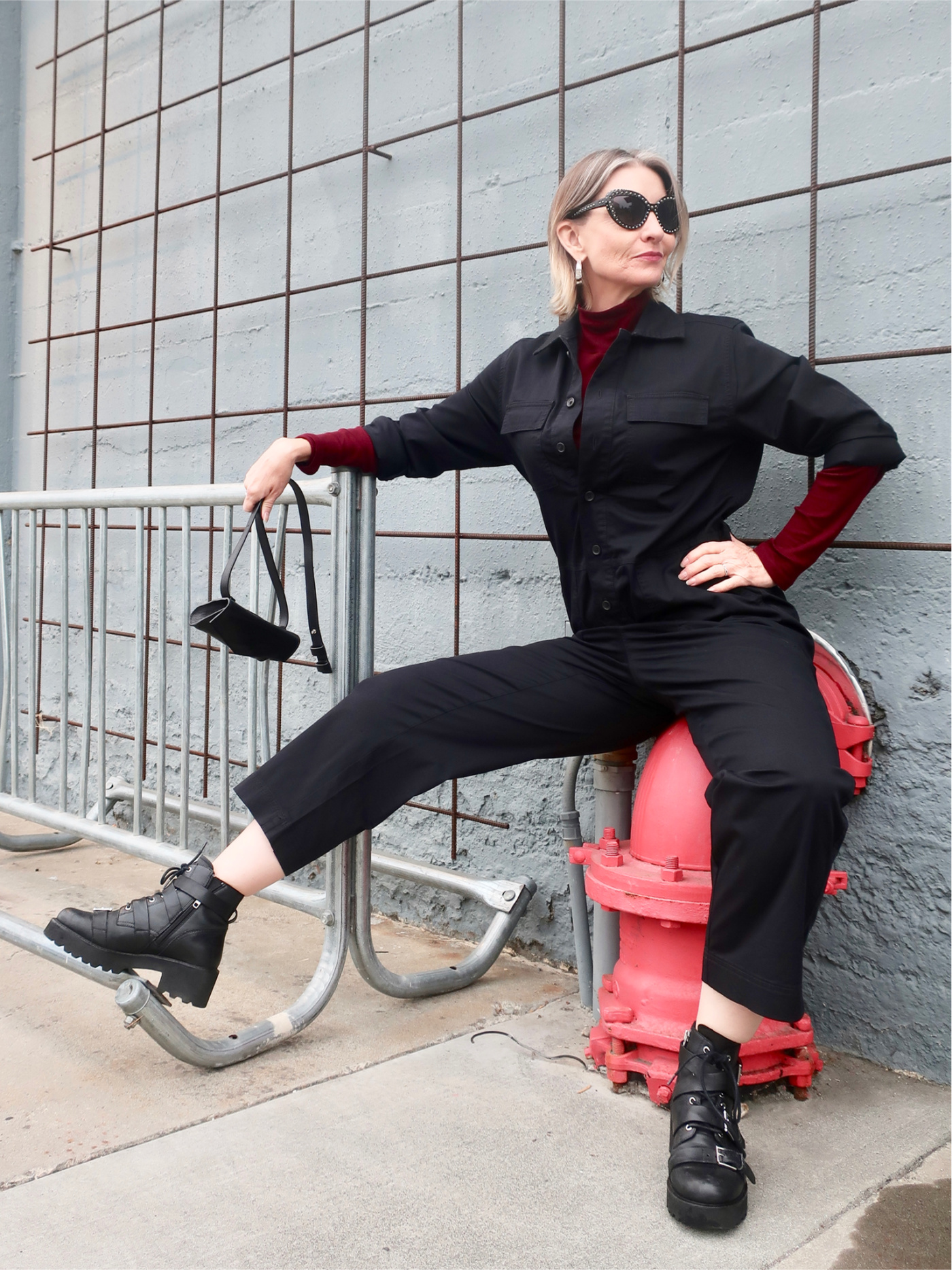 styling a jumpsuit for fall, funky over 40