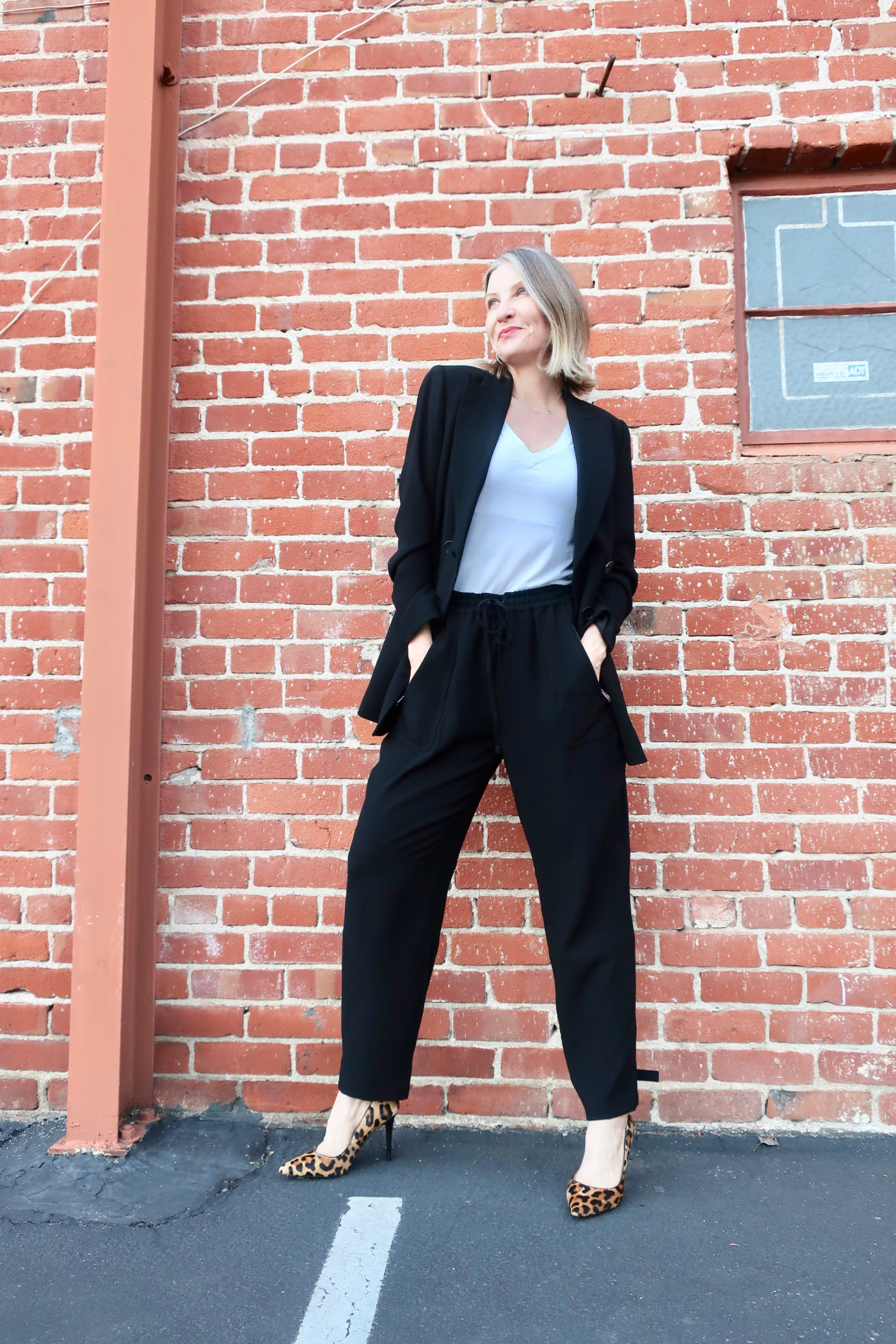 Elie Tahari Review Aster Double Breasted Blazer and Buckle Cargo Pant