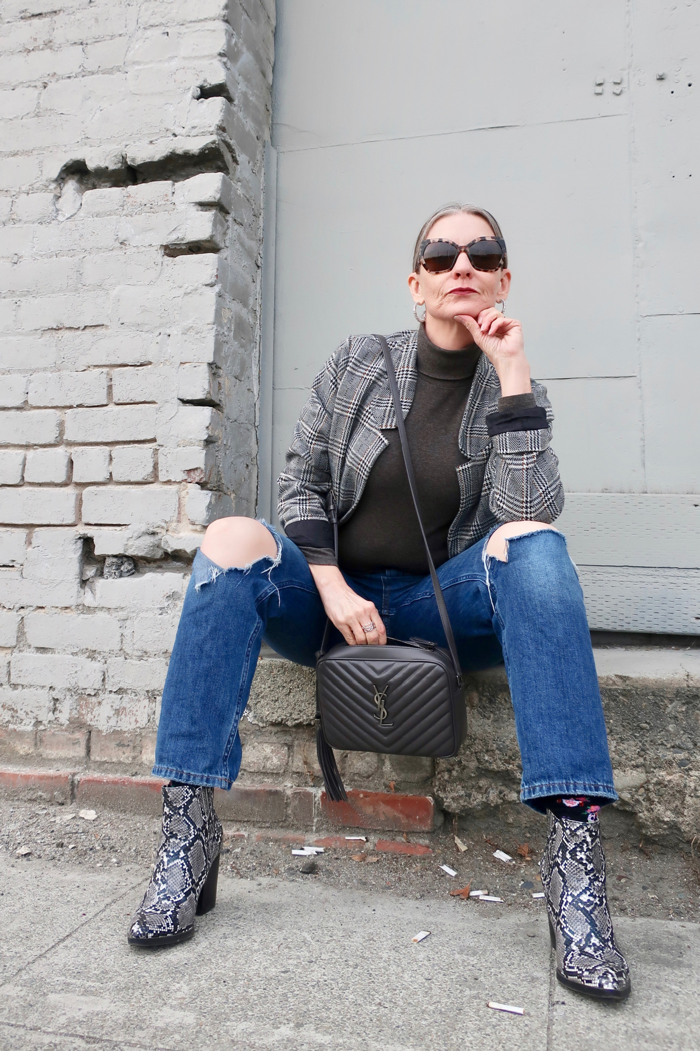Classic style with an edgy, outfit ideas for women over 50