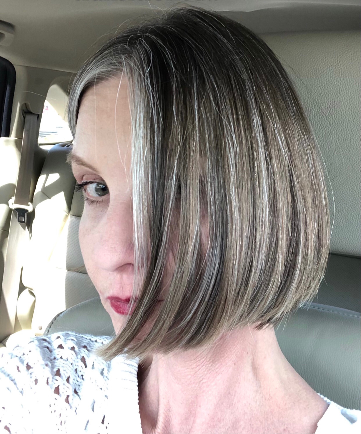 blunt bob gray haircut