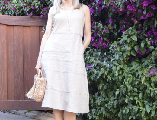Linen Mixed Media Dress
