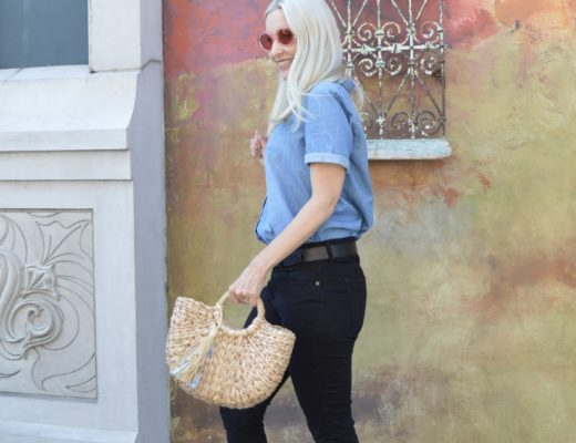 Chambray Shirt & Suede Flats (& Link Up)