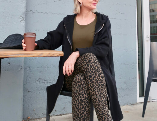Chico's cheetah print leggings and long sleeve tee