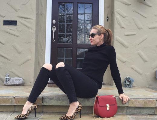 Leopard Pumps & Joe's Jeans & Styleblazer & Giveaway Winner & FFF Link Up!