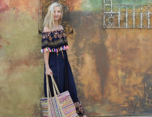 Shein Off-the-Shoulder Tassel Maxi Dress!