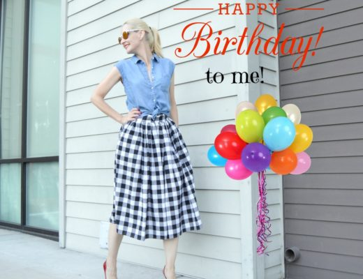 Gingham Skirt & Link Up Birthday Party! 🎈