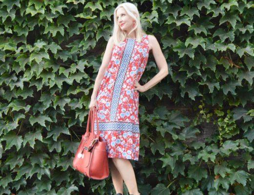 J.Jill Floral Knit A-Line Dress