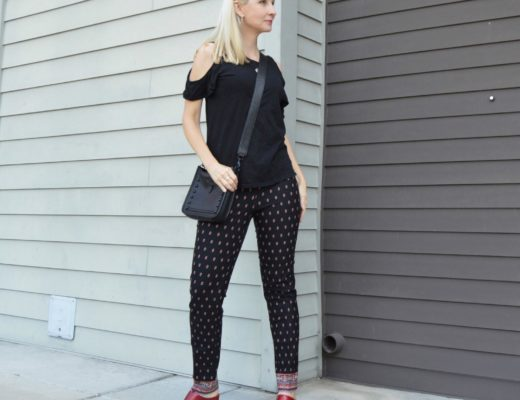 J.Jill Premium Bi-Stretch Pants & Hope/Love Necklace
